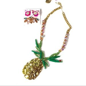 Betsey Johnson Pineapple set